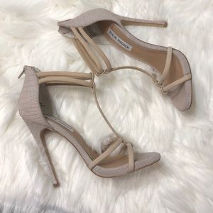 Steve madden leather nude  Mila heels size 6.5